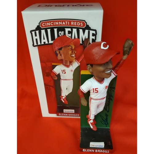 Photo of Glenn Braggs Autographed Bobblehead