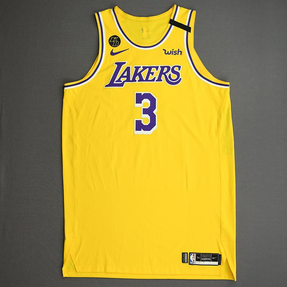 Anthony Davis - Los Angeles Lakers - Game-Worn Icon Edition Jersey ...