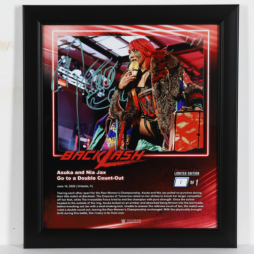 Photo of Asuka SIGNED Backlash 2020 Signature Series Frame (#1 of 1)