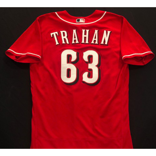 Photo of Blake Trahan -- 2020 Spring Training Jersey -- Team-Issued -- Size 44