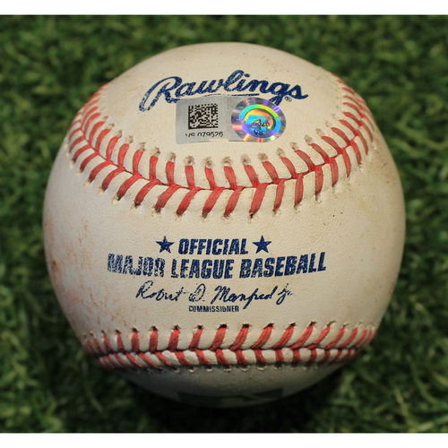 Photo of Game-Used Baseball: Josh Bell 483rd Career Hit (PIT @ KC 9/11/20)