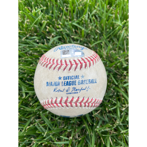 Cardinals Authentics: Game Used Baseball Pitched by Wander Suero to Paul Goldschmidt and Nolan Arenado *Strike out Goldschmidt, Line out Arenado* - 4/14/21