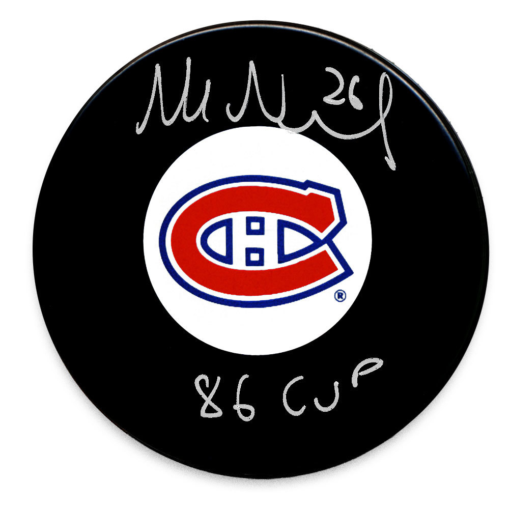 Mats Naslund Montreal Canadiens 1986 Cup Autographed Puck