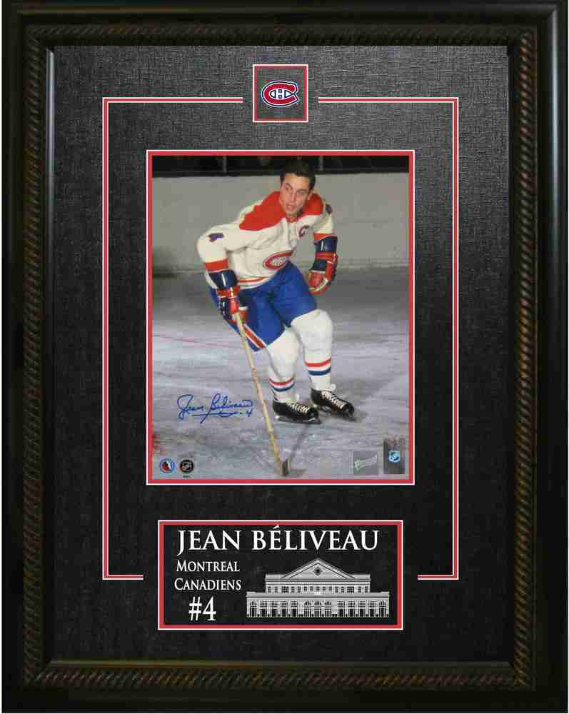 Jean Beliveau Signed 8X10