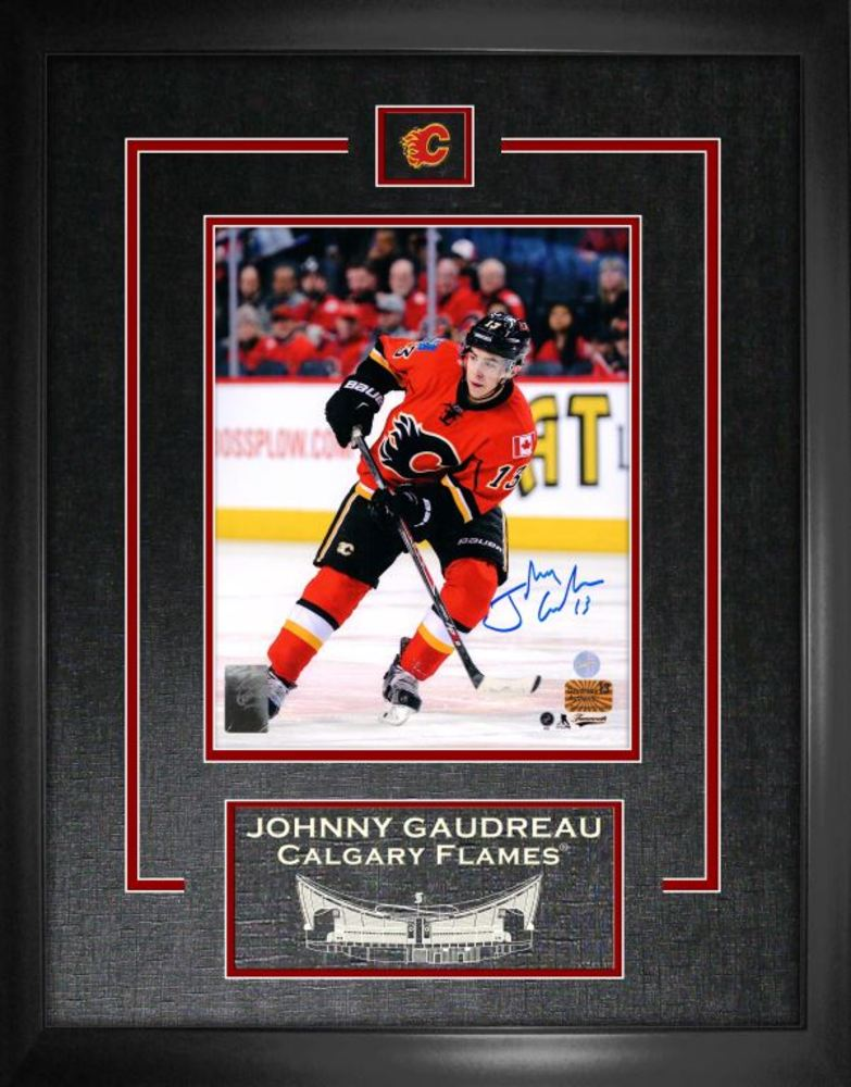 Johnny Gaudreau - Signed & Framed 8x10