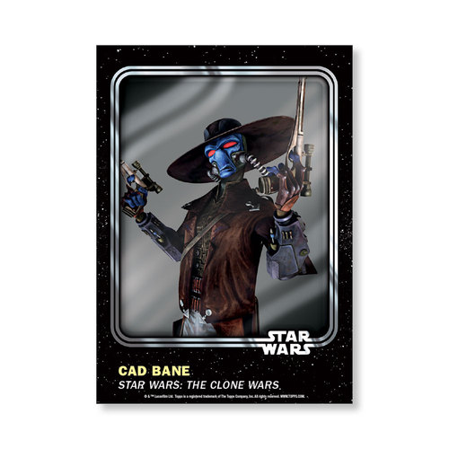 Cad Bane 2016 Star Wars Card Trader Base Poster - # to 99