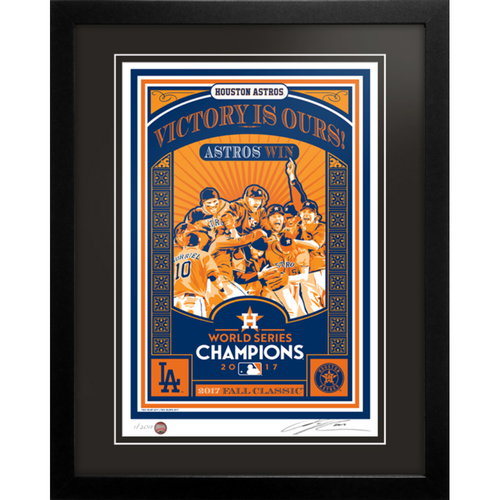2017 Houston Astros World Series Champions Handmade Serigraph, Edition #1, Signed by Artist & Framed