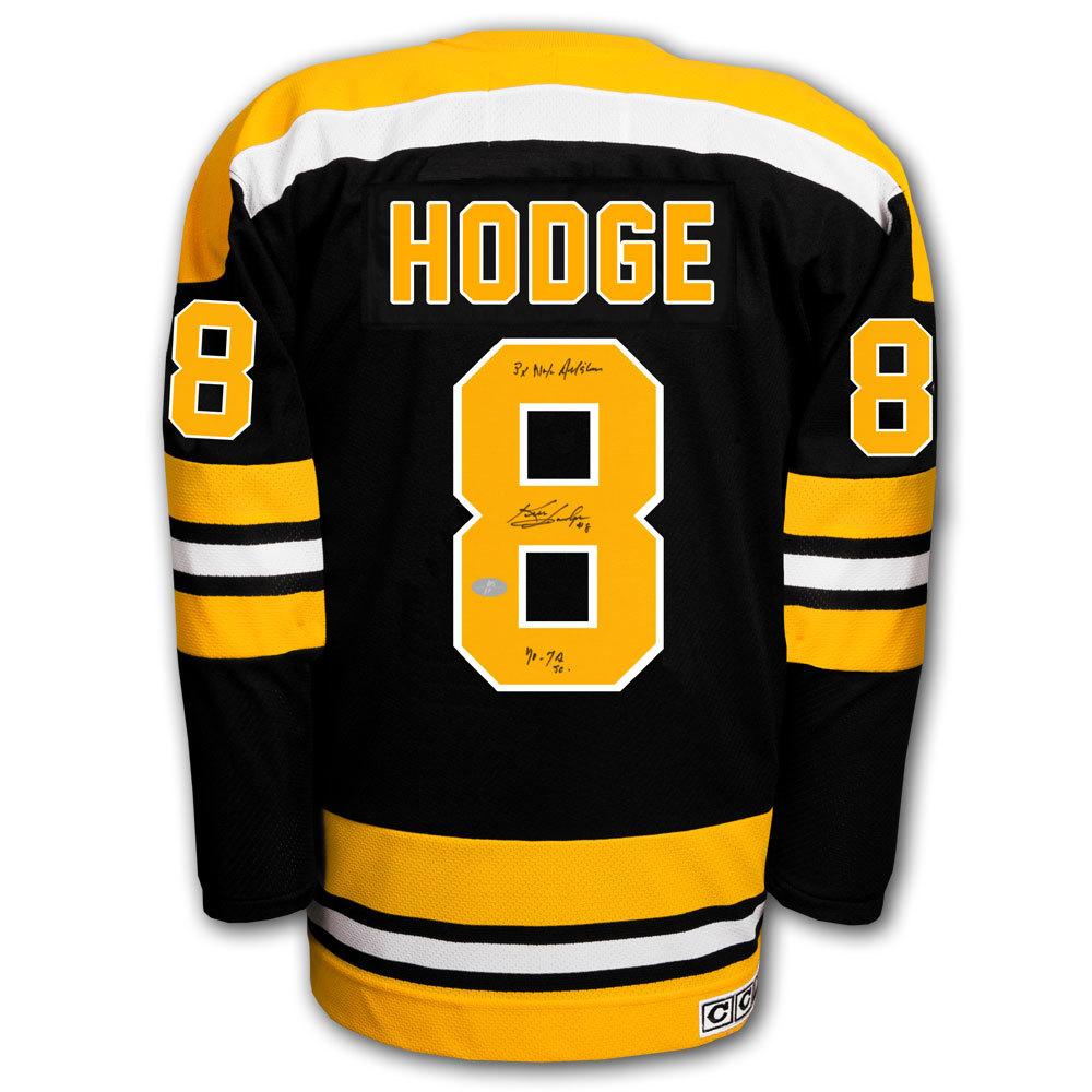 Ken Hodge Boston Bruins HOF STATS CCM Autographed Jersey