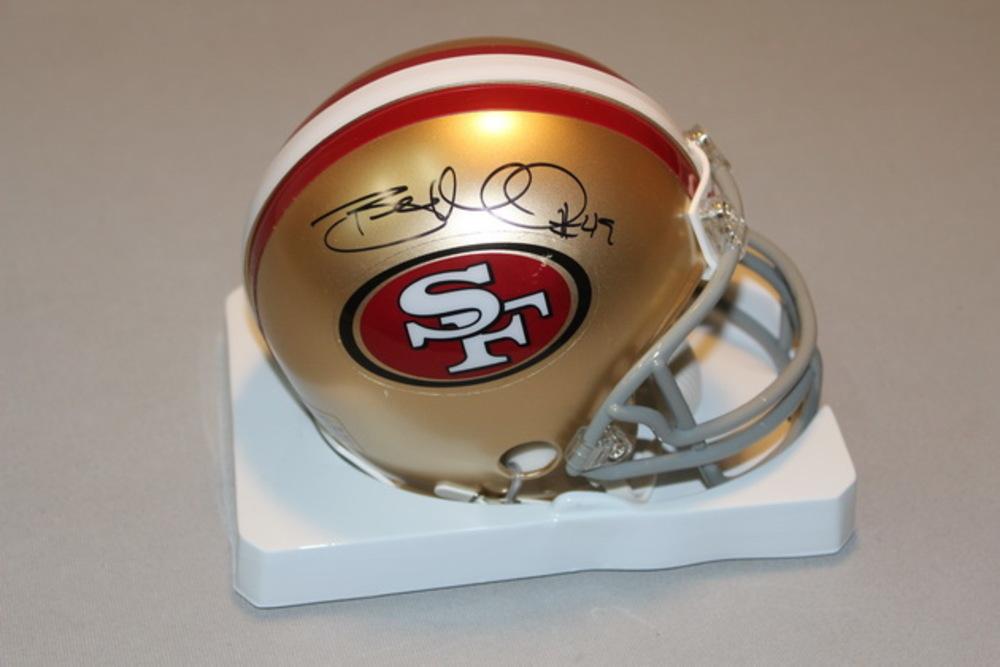 49ers - Bruce Miller signed 49ers mini helmet