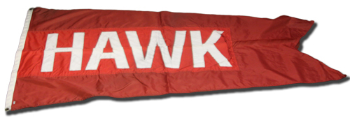 Photo of Wrigley Field Collection -- Rooftop Flag -- Hawk/8