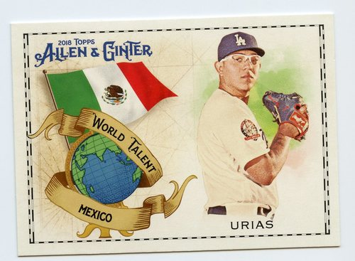 Photo of 2018 Topps Allen and Ginter World Talent #WT28 Julio Urias