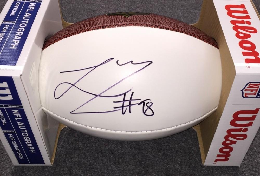 NFL - Vikings Linval Joseph signed panel ball