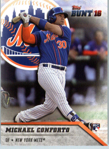 Photo of 2016 Topps Bunt #143 Michael Conforto Rookie Card