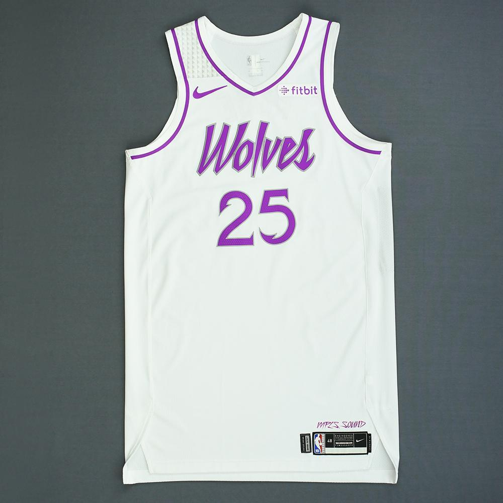 reputable site c4295 5f56c Derrick Rose - Minnesota Timberwolves - Game-Worn Earned ...