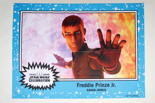 Freddie Prinze Jr. 5' X 7' Autographed 1-of-1 Banner from 2019 Star Wars Celebration