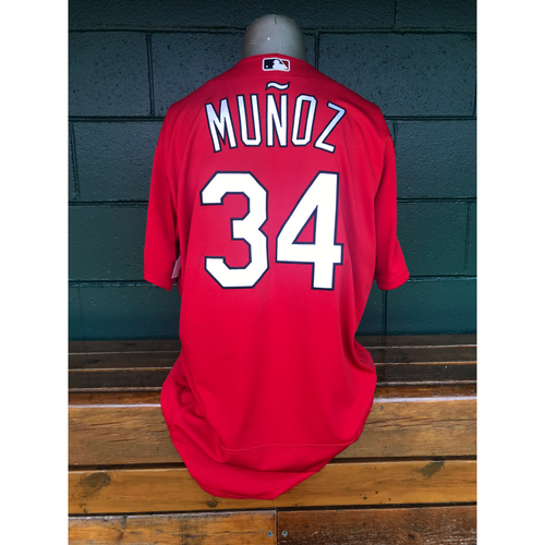 Photo of Cardinals Authentics: Game Worn Yairo Munoz Red 2019 Spring Training Jersey