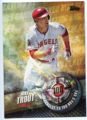 Photo of 2016 Topps Record Setters #RS1 Mike Trout