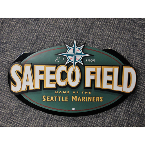 "Photo of ""Safeco Field Est. 1999"" Large Directional Sign From Safeco Field - Approximately 20""X31"""