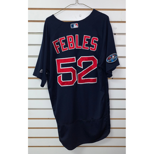 Photo of Carlos Febles Game Used September 21, 2018 Road Alternate Jersey