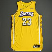 LeBron James - Los Angeles Lakers - Christmas Day' 19 - Game-Worn City Edition Jersey - Double-Double - 14th Christmas Day Game