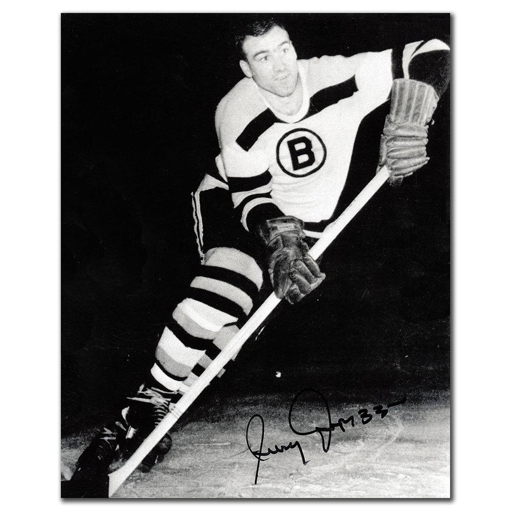 Jerry Toppazzini Boston Bruins Autographed 8x10 Photo