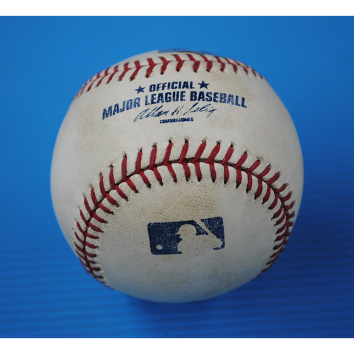 Photo of Game-Used Baseball - NYM at FLA - 4/1/11 - Pitcher - Josh Johnson, Batter - Josh Thole, Top of 3rd, Foul - Opening Day