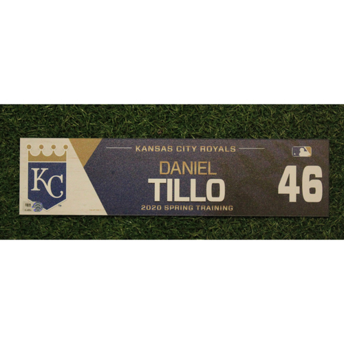 Game-Used Spring Training Locker Tag: Daniel Tillo #46