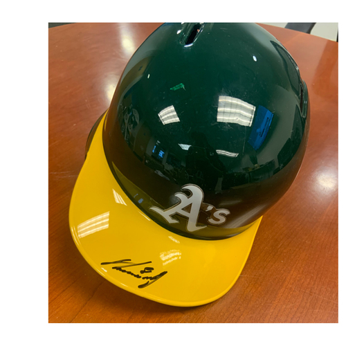 Photo of Oakland A's Community Fund: Robbie Grossman Autographed Helmet