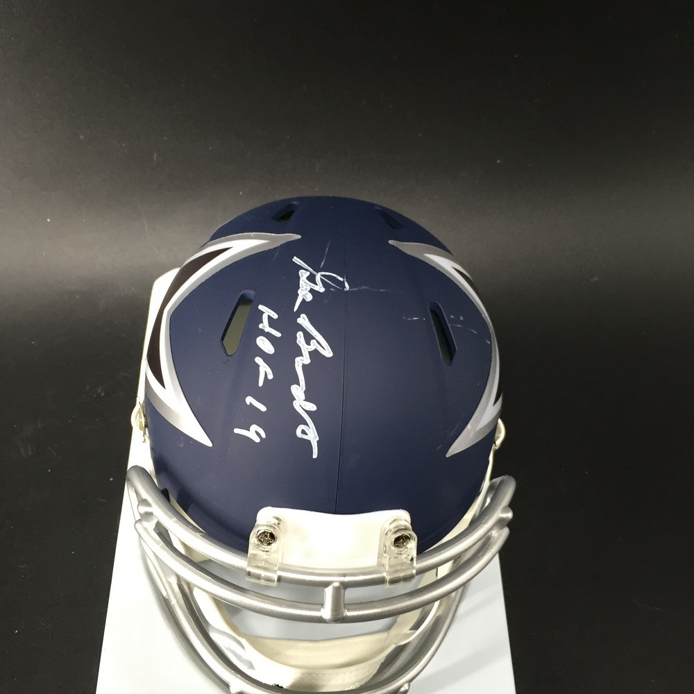 HOF - Cowboys Gil Brandt Signed Mini Helmet (Small Scratch on Helmet)
