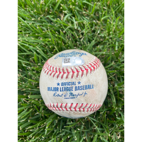 Photo of Cardinals Authentics: Game Used Baseball Pitched by Alex Reyes to Ryan Zimmerman, Kyle Schwarber, and Josh Harrison *Zimmerman Walk, Schwarber Strike out, Harrison Strike* -  4/14/21