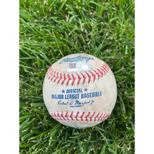 Cardinals Authentics: Game Used Baseball Pitched by Alex Reyes to Ryan Zimmerman, Kyle Schwarber, and Josh Harrison *Zimmerman Walk, Schwarber Strike out, Harrison Strike* -  4/14/21