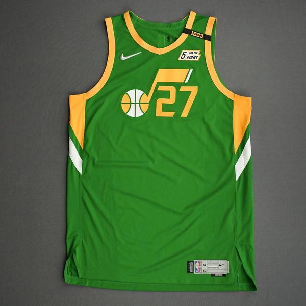 Image of Rudy Gobert - Utah Jazz - Game-Worn Earned Edition Jersey - Recorded a Double-Double - 2020-21 NBA Season