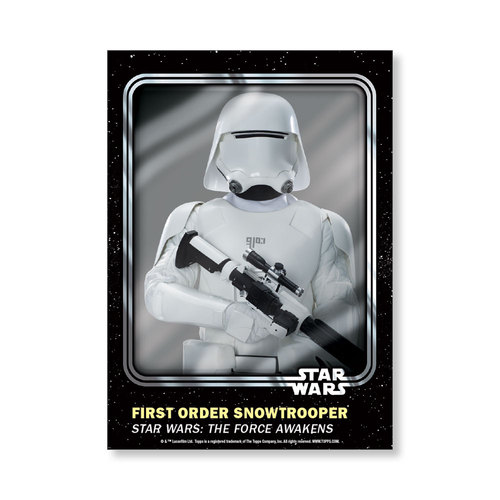 First Order Snowtrooper 2016 Star Wars Card Trader Base Poster - # to 99