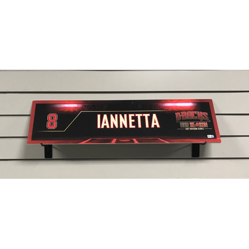 Photo of 2017 Chris Iannetta Game-Used NLDS Locker Nameplate