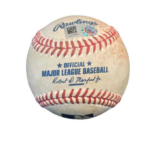 Photo of Game-Used Baseball from Pirates vs. Astros on 8/23/16 - David Freese Single