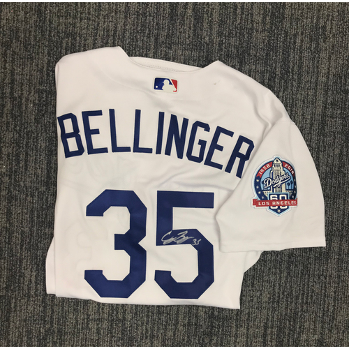 Photo of Kirk Gibson Foundation Auction: Cody Bellinger 2018 Game-Used Autographed Los Angeles Dodger Jersey