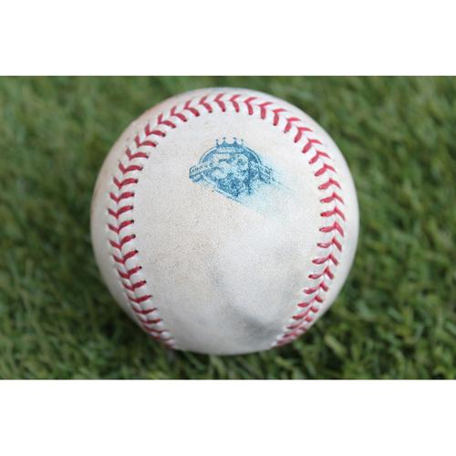 Photo of Game-Used Baseball: Francisco Lindor 585th Career Hit (CLE at KC - 7/3/18)