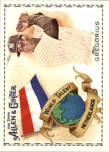 Photo of 2018 Topps Allen and Ginter World Talent #WT30 Didi Gregorius