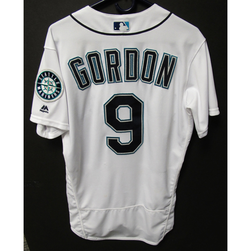 Photo of Seattle Mariners Dee Gordon Game Used Home White Jersey - 5/19/18 vs. Tigers
