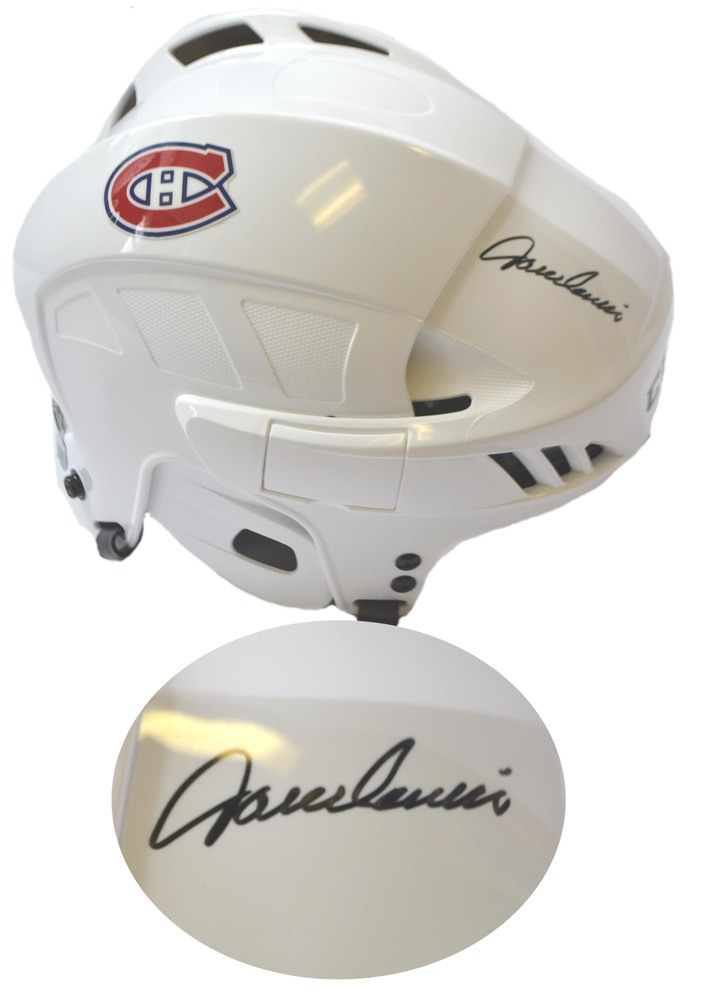 Jacques Lemaire Signed Helmet White CCM