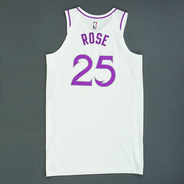 reputable site 0aecf 6fccf Derrick Rose - Minnesota Timberwolves - Game-Worn Earned ...