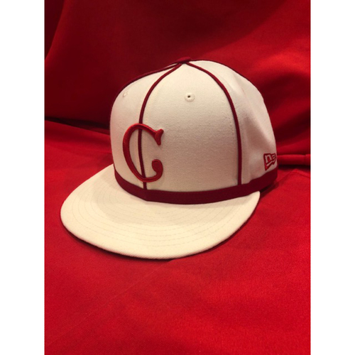 Anthony DeSclafani -- 1902 Throwback Cap -- Game Used -- SF @ CIN on May 4, 2019