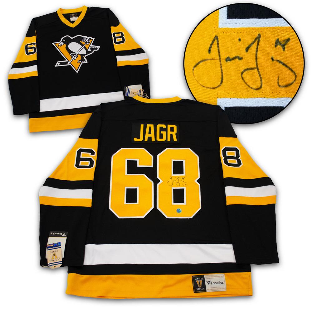 Jaromir Jagr Pittsburgh Penguins Autographed Fanatics Vintage Hockey Jersey
