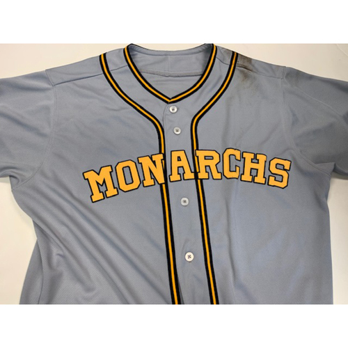 Photo of Game-Used Kansas City Monarchs Jersey 8-10-2019: Alex Gordon