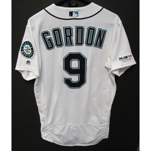 Photo of Dee Gordon Game-Used White Jersey - 7-2-2019 - Size 40