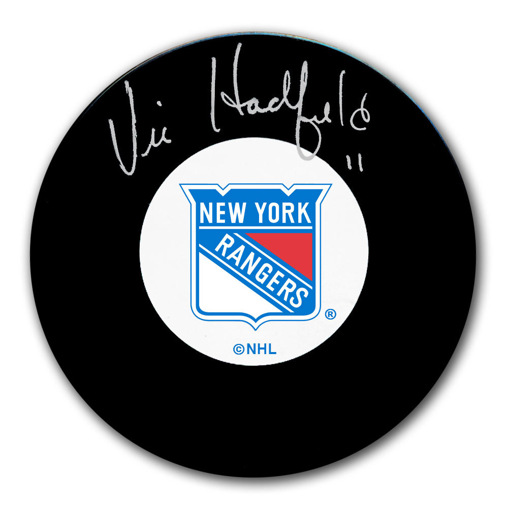 Vic Hadfield New York Rangers Autographed Puck