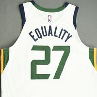 Rudy Gobert - Utah Jazz - Game-Worn Association Edition Jersey - Recorded a Double-Double - 2019-20 NBA Season Restart with Social Justice Message