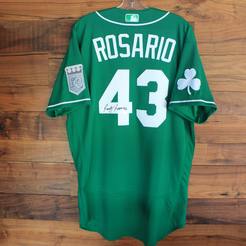 Photo of Autographed 2020 St. Patrick's Day Jersey: Randy Rosario #43 - Size 44