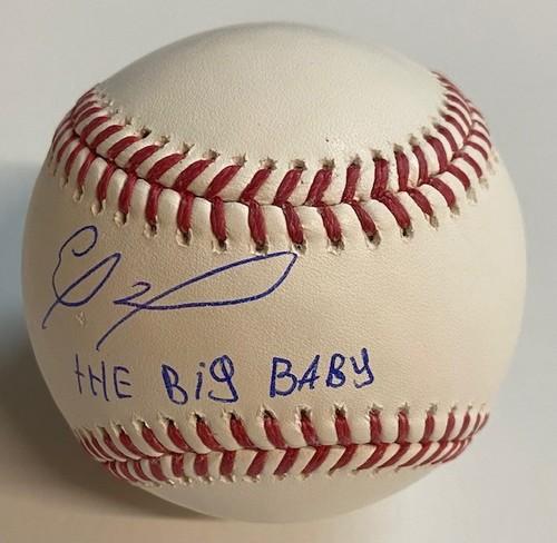 """Photo of Eloy Jimenez Autographed """"The Big Baby"""" Baseball"""
