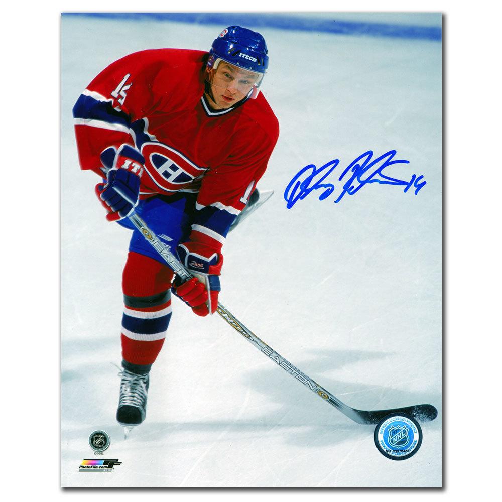 Oleg Petrov Montreal Canadiens SNIPER Autographed 8x10